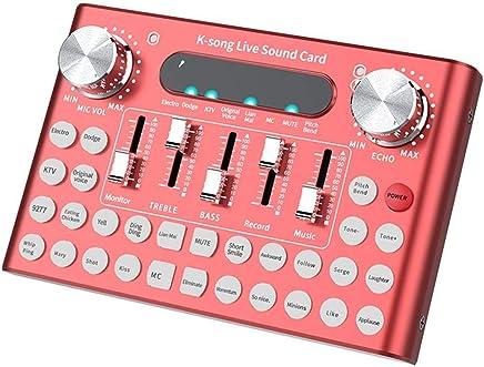 Opfury Live Broadcast Studio Audio Mixer Scheda Audio, Elettrico/Diacritico 18 Effetti Sonori Live Bluetooth Microphone Mixer, con Luci A LED Intelligenti Attivate A Voce, AntiGraffio/Impermeabile - Trova i prezzi più bassi