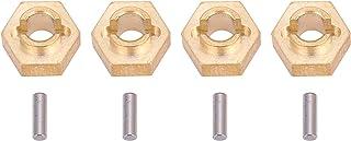 Romantisch CadeauWiel hex adapter, stabiele RC messing hex adapter, zeer nauwkeurig goud voor axiale SCX24 90081 speelgoed...