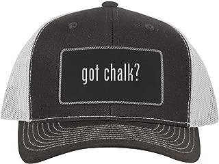 One Legging it Around got Chalk? - Leather Black Metallic Patch Engraved Trucker Hat