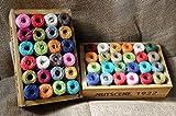 One Holzkiste von Mini Nutscene Heritage Bindfäden Spulen–24verschiedene Farben (13m je)