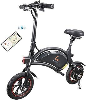 Kugoo B1 Bicicleta Eléctrica Plegable para Adultos E-Bike, Soporte de Control de App, Velocidad máxima 25 km/h Batería de Litio 6AH Motor sin escobillas 250W