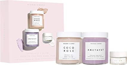 Herbivore - Natural Exfoliate + Glow Self Care Kit | Truly Natural, Clean Beauty ($62 Value)