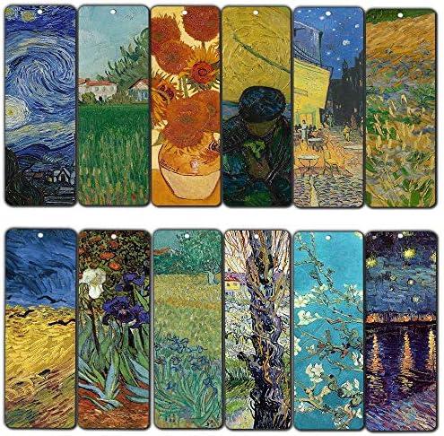 Creanoso Van Gogh Quotes Bookmarks 12 Pack Premium Gift Set Inspiring Classical Art Sayings product image