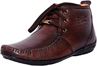 Zoom Men's Pure Leather Formal Shoes D-3181-Brown