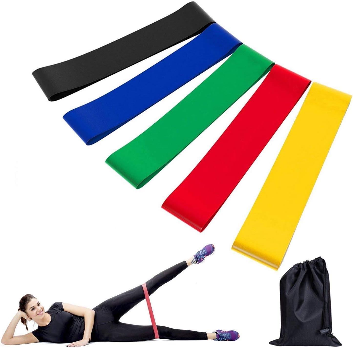 5 Bandas elasticas para hacer ejercicio de resistencia entrenar gym fitness
