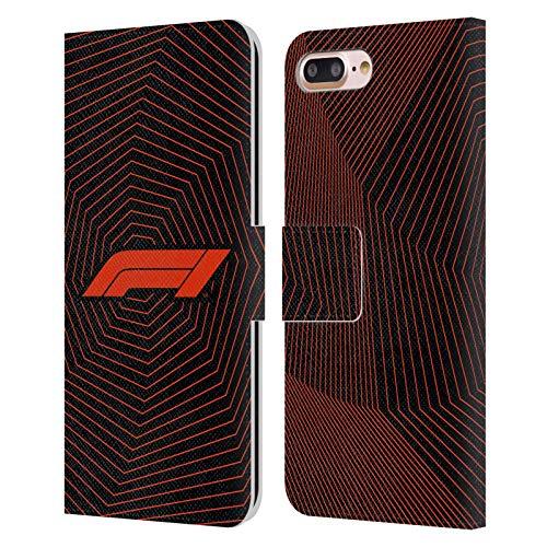 Head Case Designs Licenciado Oficialmente Formula 1 F1 Octagon Graphics Carcasa de Cuero Tipo Libro Compatible con Apple iPhone 7 Plus/iPhone 8 Plus