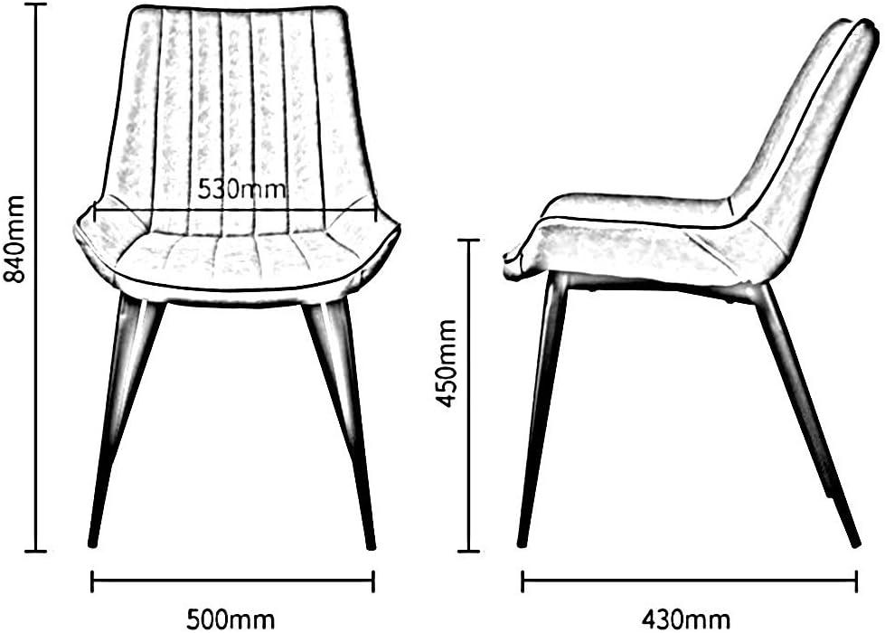WYYY chaise de Bureau Chaises De Salle À Manger Coussin Doux Jambes en Métal Robustes Cuisine Rétro Meubles De Salon 50x43x84 Cm Durable Fort (Couleur : Beige) Beige
