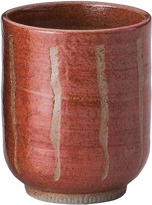 山下工芸 湯呑み 陶器 φ6.5×7.6cm(160cc) 赤十草長湯呑 小 15025330