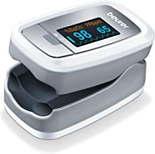 Beurer PO30 Fingertip Pulse Oximeter | Blood Oxygen Saturation & Heart Rate Monitor | Medical Device with 4 Colored Graphi...
