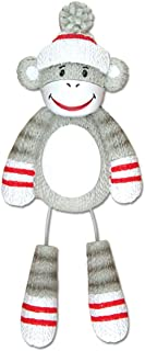 Personalized Stuffed Monkey Christmas Tree Ornament 2019 - Cute Traditional Grey Red Sock Toy Dangling Leg Zoo Animal Collection Adventure Forest Nursery Fashioned Gift Year - Free Customization