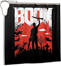 ENXIANGXIJ Waterproof Polyester Fabric Shower Curtain Boomstick Ash Vs Evil Dead Print Decorative Bathroom Curtain with Hooks,72
