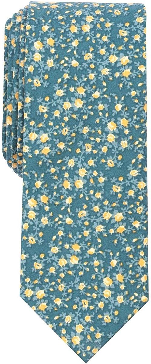 Bar III Mens Watercolor Floral Skinny Neck Tie