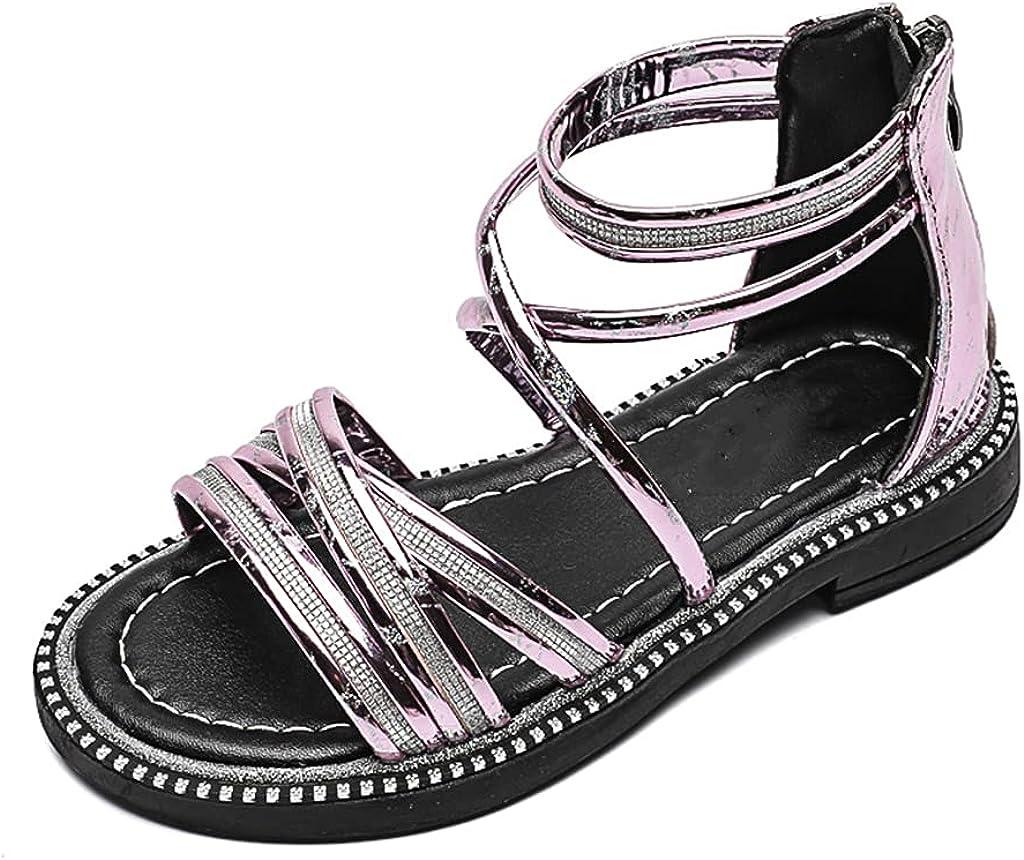 Toddler Super popular specialty store Girls Gladiator Sandals Open-Toe Beach Free Shipping New Summer Rhinestone