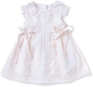 New Summer Baby Girls Short Sleeved Dress Newborn Baby Flower Lace Clothes Girls Christening Gown Party Evening Dress