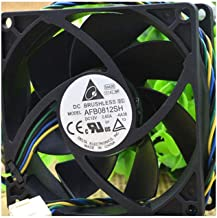 Cytom for Delta 8025 12V 0.6A AFB0812SH 8CM/cm 4-Wire Temperature Control Computer Chassis Fan