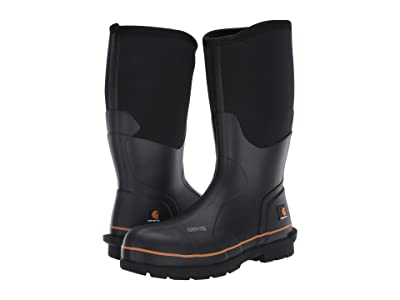 Carhartt 15 Waterproof Carbon Nano Comp Toe Rubber Boot (Black) Men
