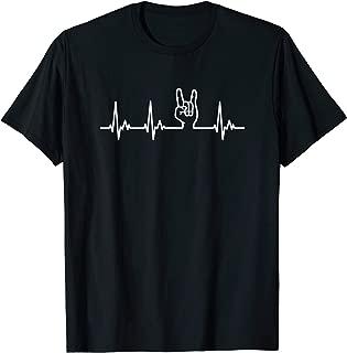 Devil Horns Heavy Metal Heartbeat TShirt