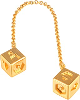 xcoser Han Solo Lucky Dice,Biggest and High Hardness Sabacc Gold Dice Keychain (Copper)