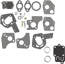 Wellsking 495606 494624 Carburetor Overhaul Repair Rebuild Kit with Gasket fits Briggs & Stratton Pulsa Jet Carb 80200 81200 82200 3 Thru 5 HP Horizontal Engines