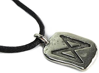 Dagaz Rune for a New Day, Pewter Pendant from the Ancient Runes Collection