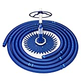 VINGLI Swimming Pool Vacuum Cleaner Automatic Sweeper, Automatic Suction Vacuum with Ten Hoses and Two Yellow Diaphragms, Blue
