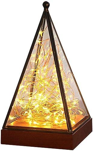 TXDZ Veilleuse LED, Dimmable Interface USB Petite lampe de table en bois massif Réchauffer un cadeau d'anniversaire rohommetique Petite lampe de table (Couleur  B)