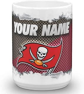 Tampa Bay Buccaneers Bucs Color Blast Custom Personalized Name Football Coffee Mug Gift (15oz)