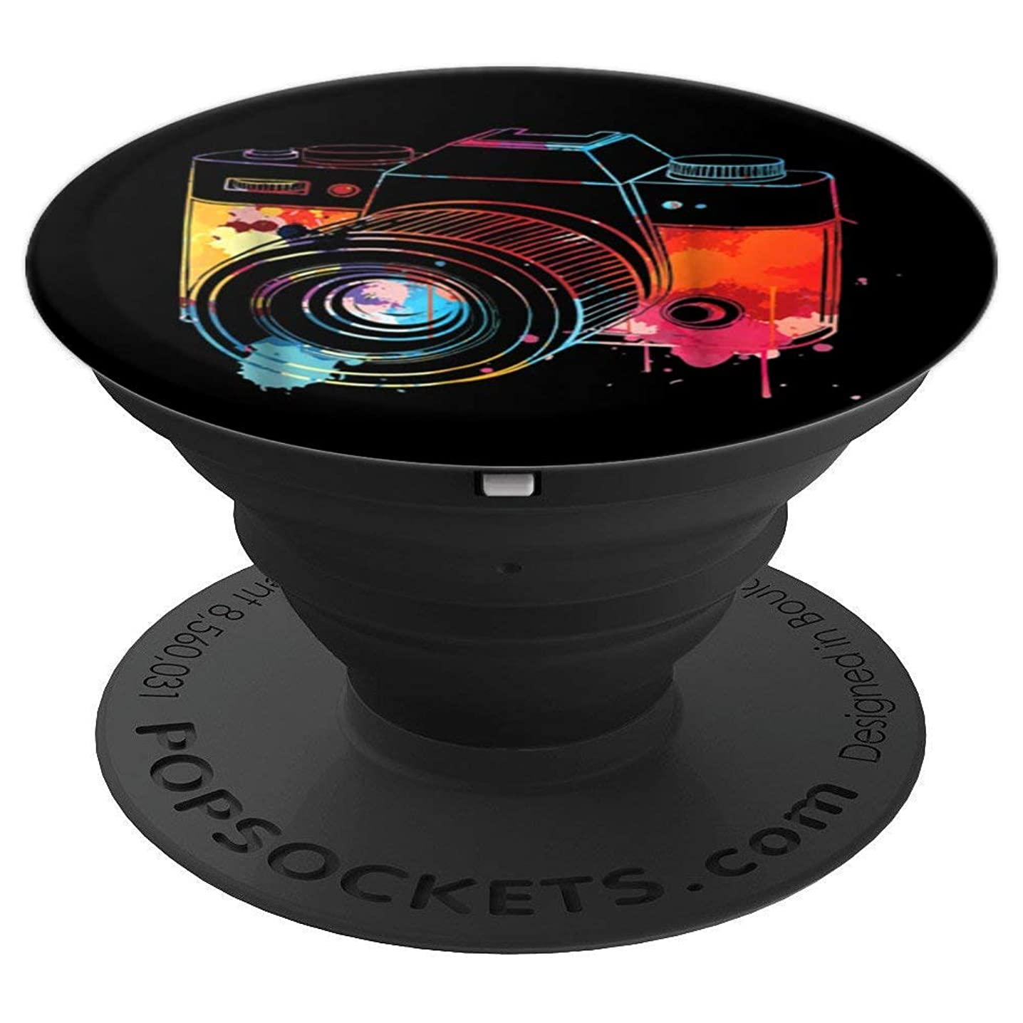 Photography Shirt: Watercolor Camera Photographer Photo Tee - PopSockets Grip and Stand for Phones and Tablets zvlztawkkay622