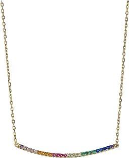 Bar Pave Pendant Necklace