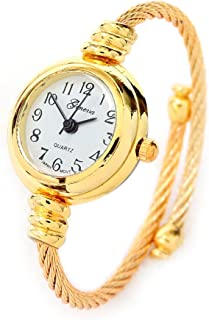 New Gold Geneva Cable Band Women's Small Size Bangle Watch