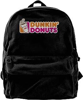 Mochila de lona Dunkin Donuts Logo Mochila para gimnasio, senderismo, portátil, bolsa de hombro para hombres y mujeres