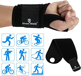 Multi-Functional Sports Wrist Brace Adjuatable Wrist Support Wraps for Badminton Volleyball Tennis Basketball Wrestling Fitness Weightlifting for Women and Men