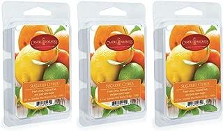 CANDLE WARMERS ETC 3-Pack 2.5 oz Wax Melt Tart Brick, Sugared Citrus