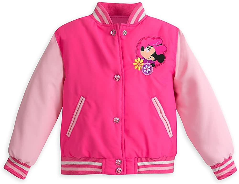 Disney Pink Minnie Mouse Varsity Jacket for Girls