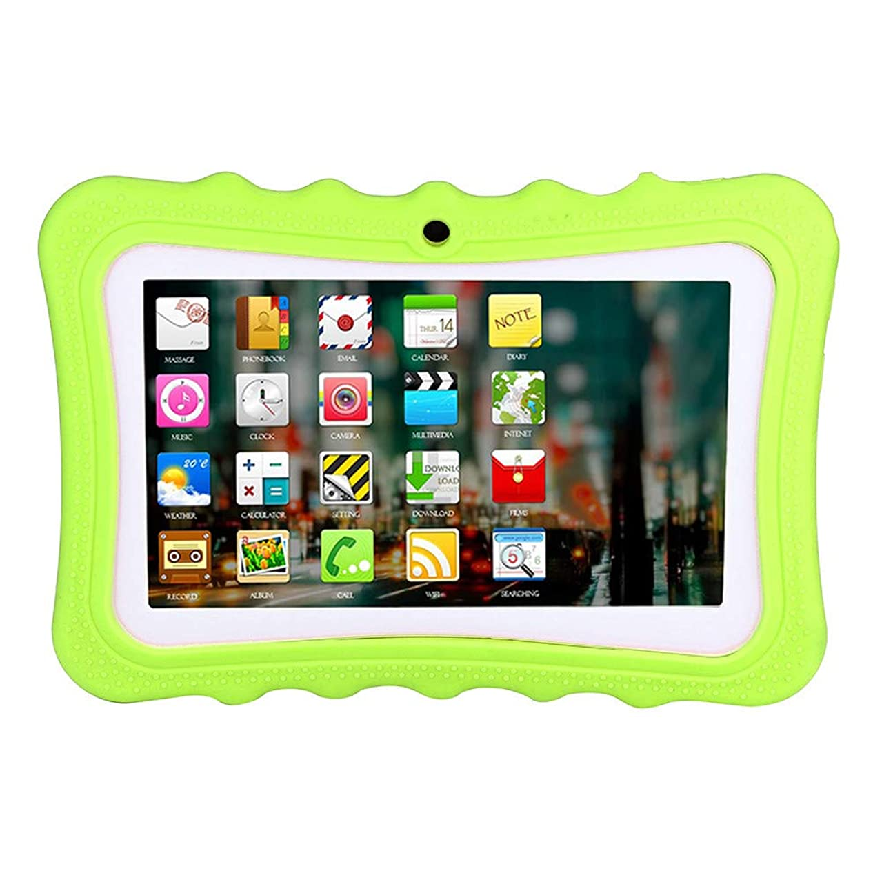 Sayolala Kids Tablet Android Quad Core 7 inch Tablet for Kids Edition Tablet with Wireless WiFi Photo Learning Home Camera Games IPS Safety Eye Protection Screen 1GB 8GB Storage (7 Inch, Green)