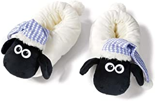 NICI 41476Shaun The Sheep Slippers with Night Cap, 38-41, Color: White/Black