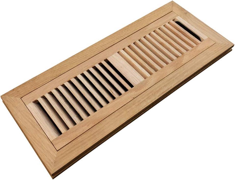 Homewell White Oak Manufacturer OFFicial shop trend rank Wood Floor Register Mount with Flush Da Vent