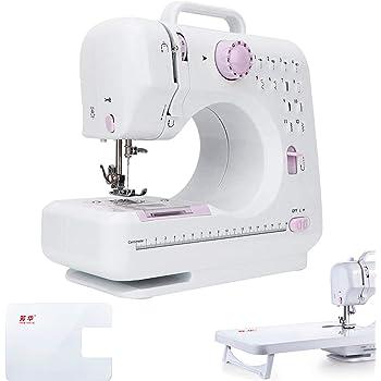 Máquina de coser, máquina de coser eléctrica con 12 puntadas, 2 ...