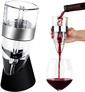 PRO Wine Aerator Pourer,Red Wine Aerator,Small White Wine Decanter,Elegant Design Diffuser with Wine Base for Home,Party,Bar,Including a Gift Box
