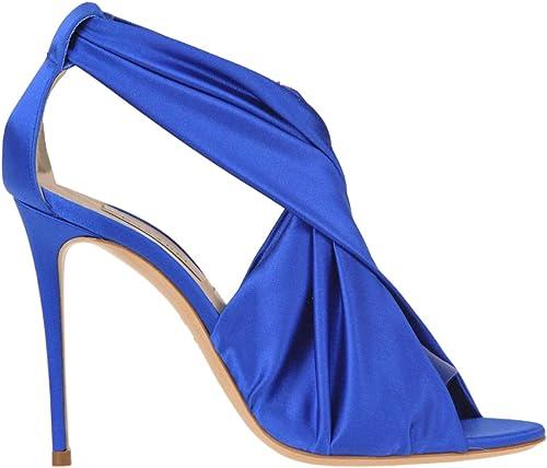 Casadei EZGL010018 Damen Blau Satin Sandalen