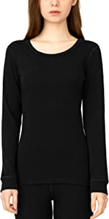 LAPASA Women's 250g 100% Merino Wool Base Layer Top Long Sleeve Thermal Underwear L48