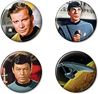 Ata-Boy Star Trek Enterprise and Crew Set of 4 1.25
