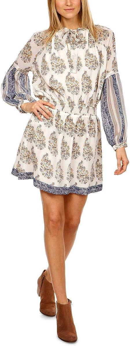 Lucky Brand Women's Drop Waist Printed Dress in Natural Multi