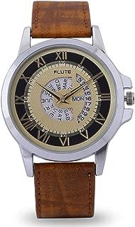 Flute Analogue Yellow Dial Men Watch-FLT115
