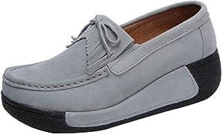 aafed23b Zapatos de Náuticos Plataforma para Mujer Otoño Invierno 2018 Moda PAOLIAN  Zapatillas de Cuña Terciopelo con