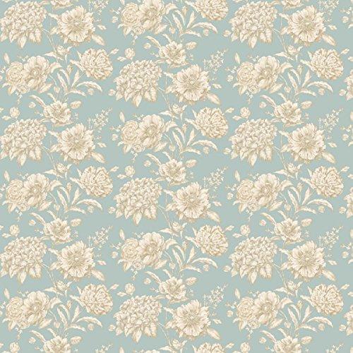 MyTinyWorld Packung mit 5 Stück Puppenhaus weiß gemischt Blumen auf Entenei blau Tapete Laken