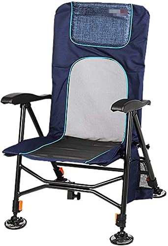 LJFYMX Chaise de pêche Chaise de camping chaise de jardin pliante ultra légère for la pêche, chaise d'extérieur compacte et portable avec sac de transport for activités de plein air, camping, barbecue