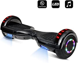 cho Colorful Wheels Series Hoverboard Safety Certified Hover Board Electric Scooter with Built in Speaker Smart Self Balancing Wheels