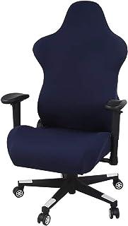 Zerci Funda para silla de carreras de videojuegos, funda para silla de oficina, funda elástica para escritorio de computadora giratoria (solo funda, sin sillas).