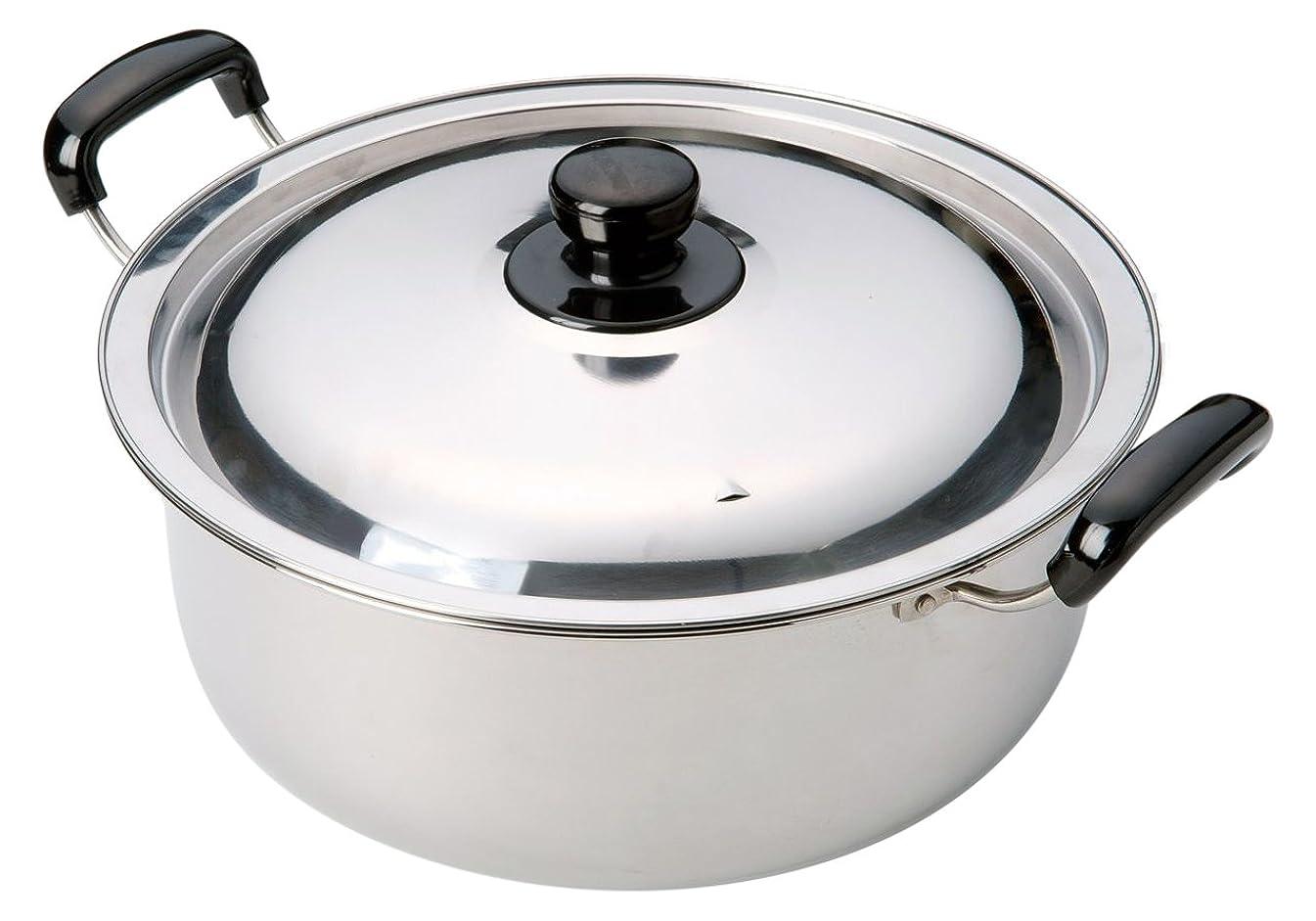 ロンドンディスパッチ喉が渇いたカワタキコーポレーション ステンレス煮物両手鍋28cm